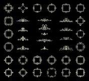 Affärskrusidulltecken och klassisk gräns av logoen Arkivbilder