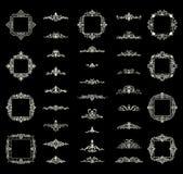 Affärskrusidulltecken och klassisk gräns av logoen Arkivfoton