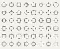 Affärskrusidulltecken och klassisk gräns av logoen Royaltyfri Bild