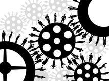 affärskugghjulhjul stock illustrationer