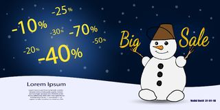 Affärskupong Stor vinterförsäljning också vektor för coreldrawillustration Royaltyfria Foton