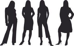 affärskvinna stock illustrationer