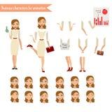 Affärskvinna för animering Fotografering för Bildbyråer