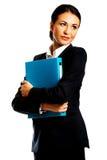 Affärskvinna Holding en limbindning Arkivfoton