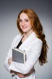 Affärskvinna i affärsidé Royaltyfria Foton