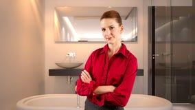 Affärskvinna i ett hotell Royaltyfri Foto
