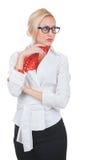 Affärskvinna i exponeringsglas Royaltyfria Foton