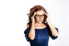 Affärskvinna i exponeringsglas Royaltyfri Foto