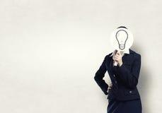 Affärskvinna i maskering Royaltyfri Foto
