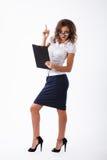 Affärskvinna i studio Arkivbilder
