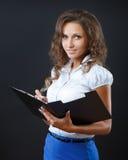 Affärskvinna i studio Royaltyfri Fotografi