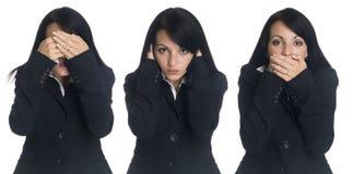 Affärskvinna - ingen ondska Fotografering för Bildbyråer