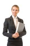 affärskvinna isolerad white arkivfoton