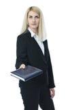 Affärskvinna med anteckningsboken Royaltyfria Foton