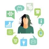 Affärskvinna med arbetsuppgifter Arkivfoton