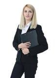 Affärskvinna med clipboarden Royaltyfria Bilder