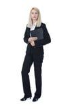 Affärskvinna med clipboarden Arkivfoto