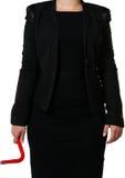 Affärskvinna med en kofot Royaltyfria Foton
