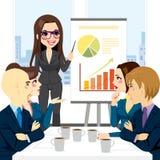 Affärskvinna Meeting Group vektor illustrationer