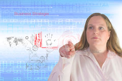 Affärskvinna och teknologi Arkivfoton