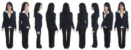 Affärskvinna - rotation Arkivbild