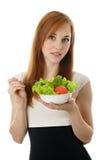 affärskvinna som äter salladbarn Royaltyfri Fotografi