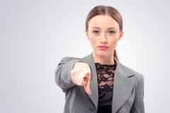 Affärskvinna som pekar dig Royaltyfria Foton