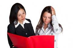 affärskvinnaarbete Arkivfoto