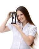 affärskvinnabarn royaltyfri fotografi
