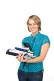 affärskvinnaförlagor Fotografering för Bildbyråer