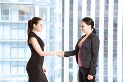 affärskvinnahänder som upprör två Arkivbilder