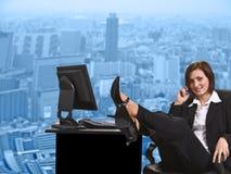 affärskvinnakontor arkivfoton