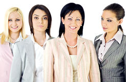 affärskvinnalag Arkivbild