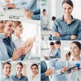 Affärskvinnalag arkivfoton