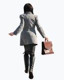 affärskvinnan går Royaltyfri Fotografi