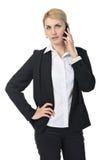 Affärskvinnan med ringer Arkivfoton