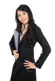 affärskvinnan poserar Fotografering för Bildbyråer