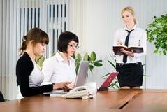 affärskvinnapresentation arkivbilder