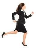 Affärskvinnarunning fotografering för bildbyråer