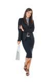 affärskvinnashopping fotografering för bildbyråer
