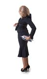 affärskvinnastrykning Royaltyfri Fotografi