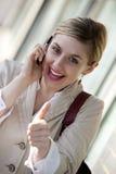 affärskvinnatelefon Royaltyfri Bild
