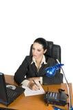 affärskvinnaworking royaltyfria bilder