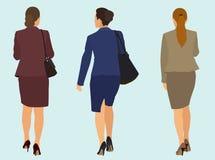 Affärskvinnor som bort går vektor illustrationer