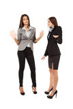 Affärskvinnor som har ett argument Royaltyfria Bilder