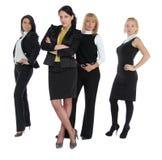 Affärskvinnor som isoleras på vit royaltyfria bilder