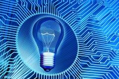 Affärslösning, idérik idé, datavetenskap och elektriskt teknologibegrepp royaltyfri illustrationer