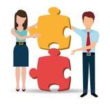 Affärslösningar och teamwork Royaltyfri Fotografi