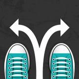 Affärslösningen skor vektorn royaltyfri illustrationer