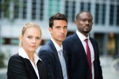 Affärslag: grupp av ungt affärsfolk Arkivfoton